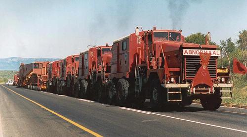 500-тонный автопоезд