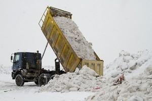 свалка загрязненного снега