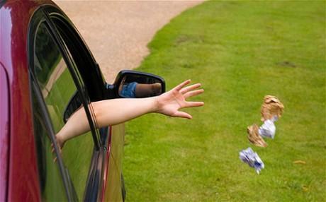 выброс мусора из автомобилей