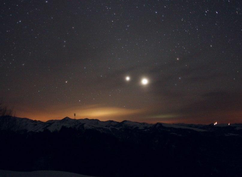 сближение Венеры меркурия юпитера