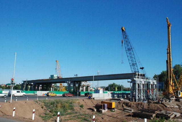трехпролетный дорожный мост