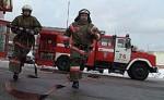 На территории ТРК «Планета» произошло возгорание строительного вагончика