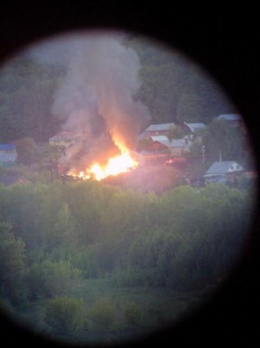 Пожар в Тужиловке 3