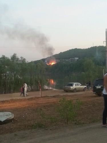 Пожар в Тужиловке