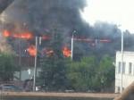 В Уфе сгорела общественная баня