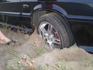забуксовало колесо