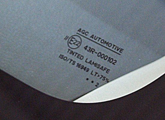 маркировка на стеклах автомобиля