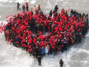 флэшмоб на день святого валентина