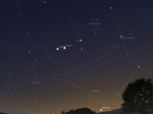 венера и юпитер на небе