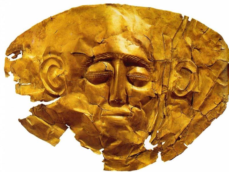 Микенская погребальная маска