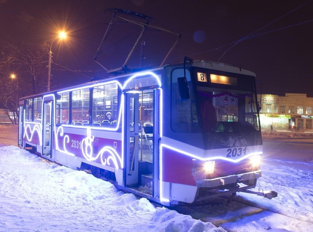 Новогодние трамваи