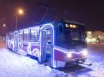 В Уфе появились новогодние трамваи и троллейбус