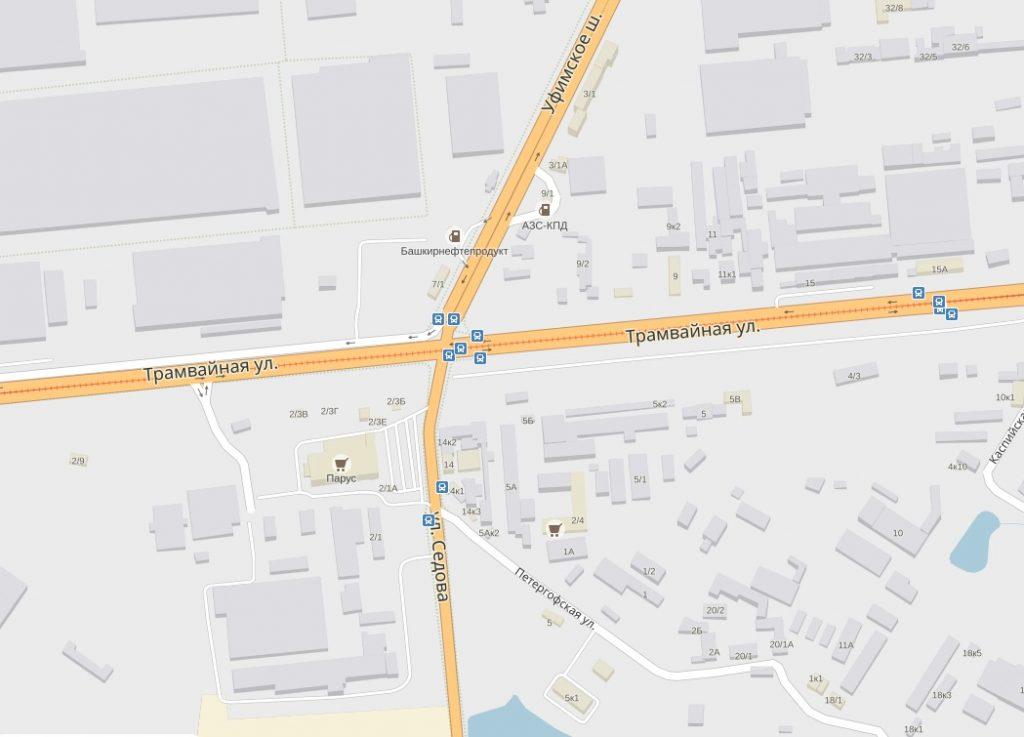 Улицы Трамвайная и Седова