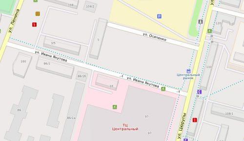 участке улиц Цюрупы- Якутова
