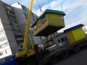 демонтированы торговые павильоны