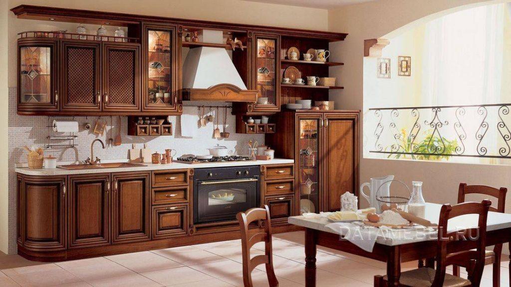 кухонная мебель из массива дерева дуба